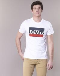 vaatteet Miehet Lyhythihainen t-paita Levi's GRAPHIC SPORTSWEAR LOGO White / Blue / Red