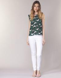 vaatteet Naiset 5-taskuiset housut Le Temps des Cerises 316 White