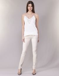 vaatteet Naiset 5-taskuiset housut Freeman T.Porter ALEXA SLIM MAGIC COLOR Pink