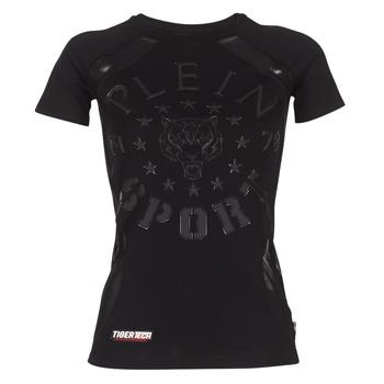 vaatteet Naiset Lyhythihainen t-paita Philipp Plein Sport FORMA LINEA Black