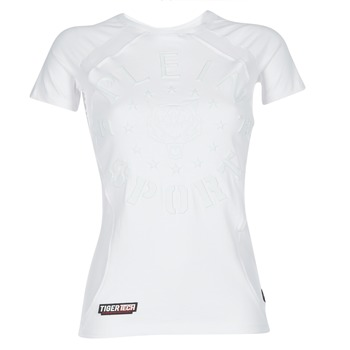 vaatteet Naiset Lyhythihainen t-paita Philipp Plein Sport FORMA LINEA White / White