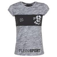 vaatteet Naiset Lyhythihainen t-paita Philipp Plein Sport THINK WHAT U WANT Grey