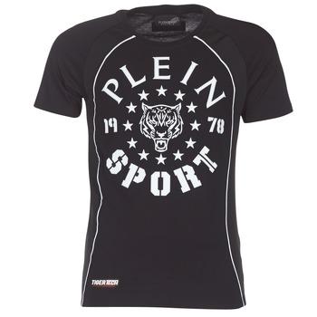 vaatteet Miehet Lyhythihainen t-paita Philipp Plein Sport LIONEL Black / White