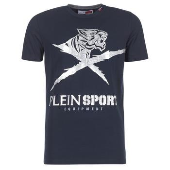 vaatteet Miehet Lyhythihainen t-paita Philipp Plein Sport BORIS Laivastonsininen / Silver