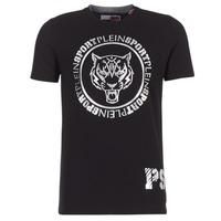 vaatteet Miehet Lyhythihainen t-paita Philipp Plein Sport IVAN Black / Silver