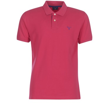 vaatteet Miehet Lyhythihainen poolopaita Gant CONTRAST COLLAR PIQUE RUGGER Pink