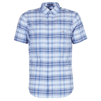 vaatteet Miehet Lyhythihainen paitapusero Gant BLUE PACK MADRAS REG Blue