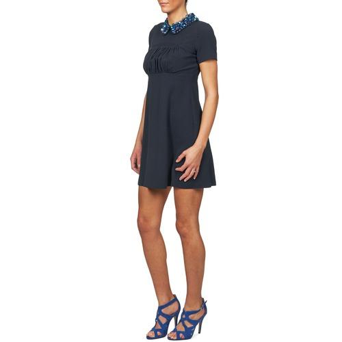 Manoush Communion Blue - Ilmainen Toimitus- Vaatteet Lyhyt Mekko Naiset 224