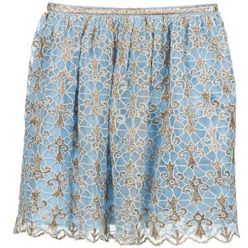 vaatteet Naiset Hame Manoush ARABESQUE Blue / Dore