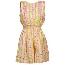 vaatteet Naiset Lyhyt mekko Manoush FLAMINGO Pink / Yellow