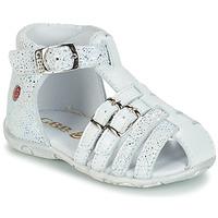 kengät Tytöt Sandaalit ja avokkaat GBB SAMIRA White / Dpf