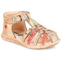 kengät Tytöt Sandaalit ja avokkaat GBB PERLE Pink / Metal-fluo / Dpf / Nemo