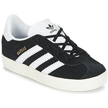 kengät Lapset Matalavartiset tennarit adidas Originals GAZELLE I Black / White