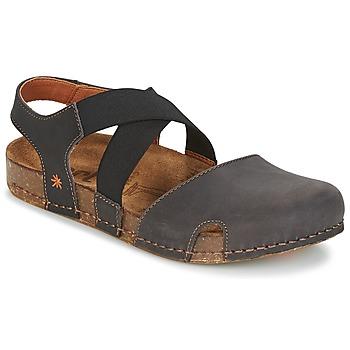 kengät Naiset Sandaalit ja avokkaat Art WE WALK Grey / Black