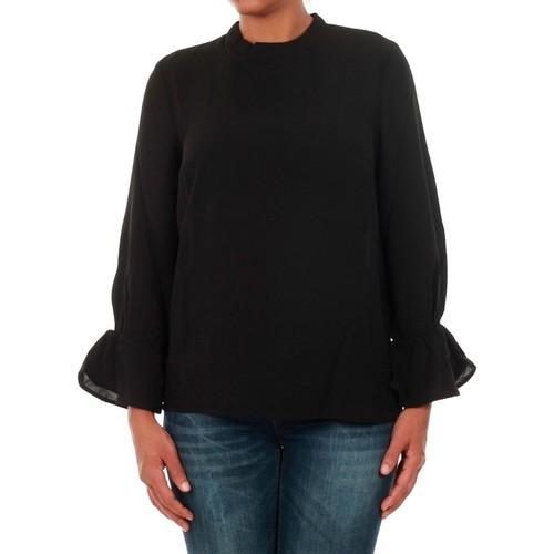 vaatteet Naiset Topit / Puserot Only 15149954 ONLTOKE FLARE 3/4 TOP WVN BLACK Negro