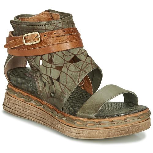 kengät Naiset Sandaalit ja avokkaat Airstep / A.S.98 LAGOS Kaki