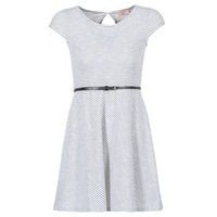 vaatteet Naiset Lyhyt mekko Moony Mood IKIMI Valkoinen / Laivastonsininen
