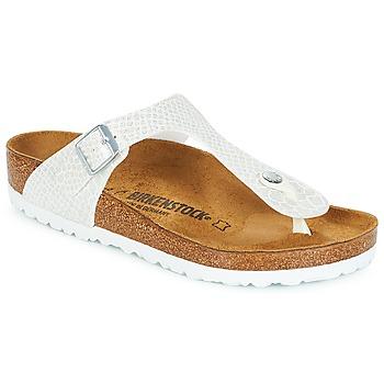 kengät Naiset Varvassandaalit Birkenstock GIZEH White