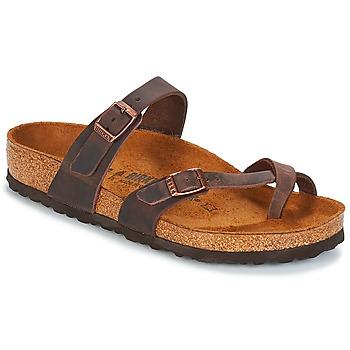 kengät Naiset Varvassandaalit Birkenstock MAYARI Brown