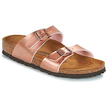 kengät Naiset Sandaalit Birkenstock SYDNEY Pink / Kulta