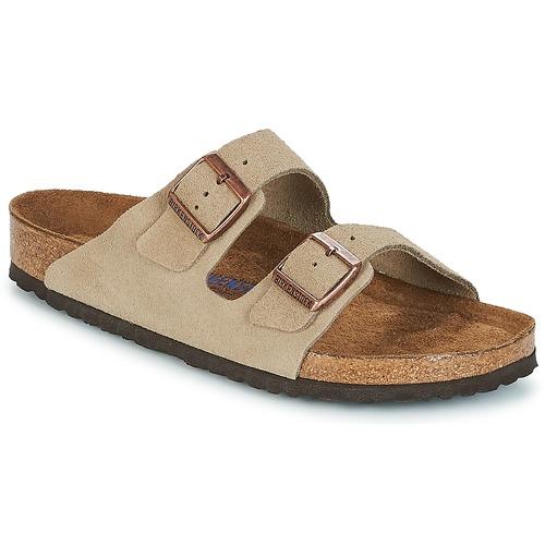 kengät Miehet Sandaalit Birkenstock ARIZONA SFB Taupe