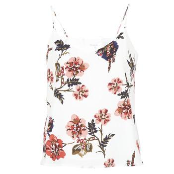 vaatteet Naiset Hihattomat paidat / Hihattomat t-paidat Moony Mood IDARI White