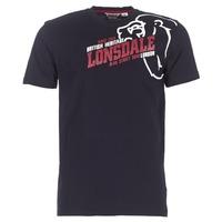 vaatteet Miehet Lyhythihainen t-paita Lonsdale WALKLEY Black