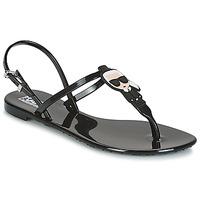 kengät Naiset Sandaalit ja avokkaat Karl Lagerfeld JELLY KARL ICONIK Musta