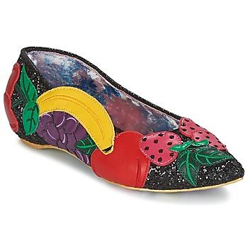 kengät Naiset Balleriinat Irregular Choice BANANA BOAT Black