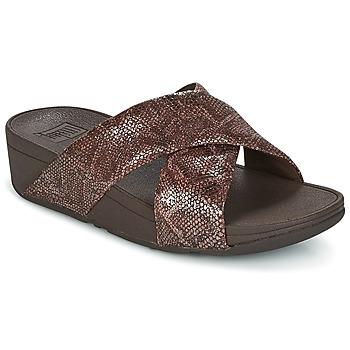 kengät Naiset Sandaalit FitFlop SWOOP SLIDE Chocolate