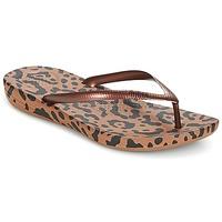 kengät Naiset Varvassandaalit FitFlop IQUSHION ERGONOMIC FLIP-FLOPS Bronze / Leopardi