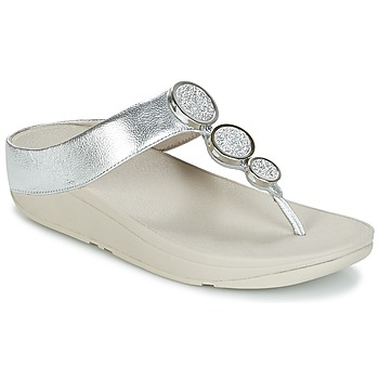 kengät Naiset Varvassandaalit FitFlop HALO TOE THONG SANDALS Silver