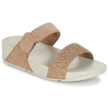 kengät Naiset Sandaalit FitFlop LULU POPSTUD SLIDE SANDAL Beige