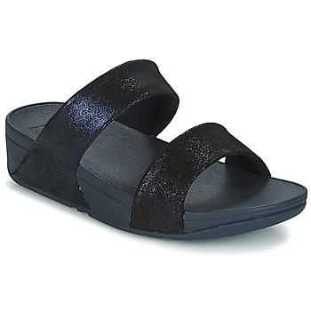 kengät Naiset Sandaalit FitFlop SHIMMY SUEDE SLIDE Blue