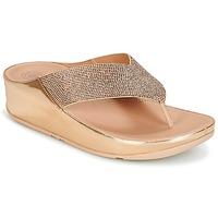 kengät Naiset Varvassandaalit FitFlop CRYSTALL Pink / Kulta