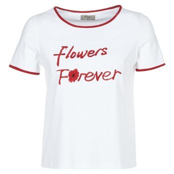 vaatteet Naiset Lyhythihainen t-paita Betty London INNATIMBI Valkoinen / Punainen