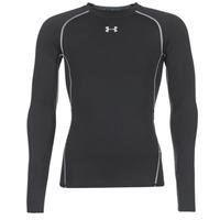 vaatteet Miehet T-paidat pitkillä hihoilla Under Armour LS COMPRESSION Black