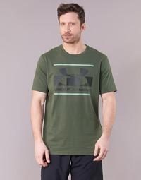 vaatteet Miehet Lyhythihainen t-paita Under Armour BLOCKED SPORTSTYLE LOGO Kaki