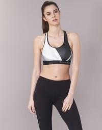 vaatteet Naiset Urheiluliivit Under Armour ARMOUR MID KEYHOLE PRINT Black / White