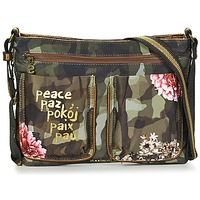 laukut Naiset Käsilaukut Desigual BOLS_BAQUEIRA MILITAR FLORES Black / Monivärinen