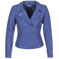vaatteet Naiset Nahkatakit / Tekonahkatakit Only STEADY Blue