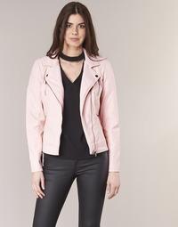 vaatteet Naiset Nahkatakit / Tekonahkatakit Only STEADY Pink