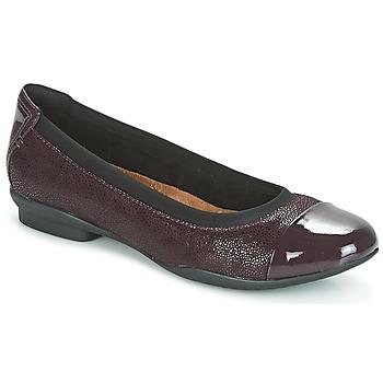 kengät Naiset Balleriinat Clarks NEENAH GARDEN Aubergine