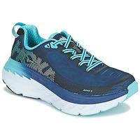 kengät Naiset Juoksukengät / Trail-kengät Hoka one one BONDI 5 Blue / Black