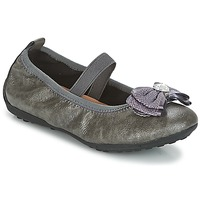 kengät Tytöt Balleriinat Geox J PIUMA BALLERINES Grey