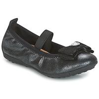 kengät Tytöt Balleriinat Geox J PIUMA BALLERINES Black