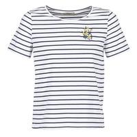 vaatteet Naiset Lyhythihainen t-paita Betty London INNAMOU White / Laivastonsininen