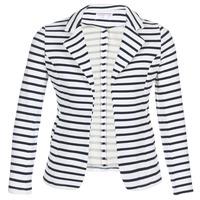 vaatteet Naiset Takit / Bleiserit Moony Mood IFAROUCHE Valkoinen / Laivastonsininen