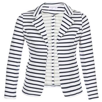 vaatteet Naiset Takit / Bleiserit Moony Mood IFAROUCHE White / Laivastonsininen