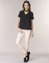 vaatteet Naiset 5-taskuiset housut Noisy May NMLUCY Pink